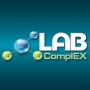 X International Exhibition LABComplEX. Analytics. Laboratory. Biotechnologies. HI-TECH logo